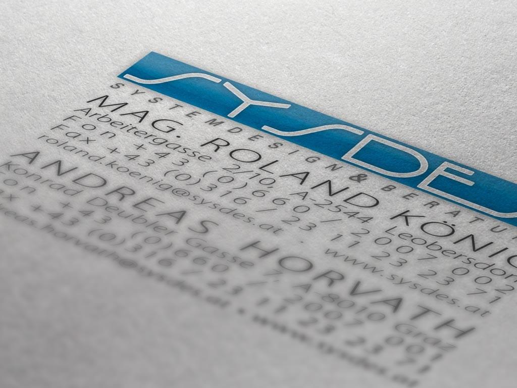 Erstes Corporate Design für SYSDES