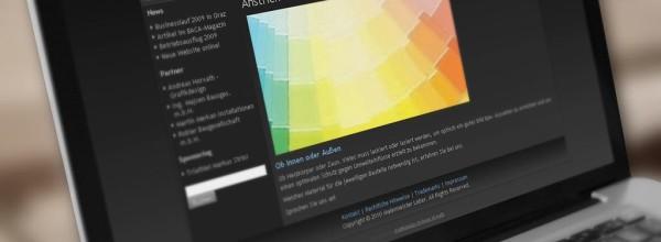 Webdesign für Malermeister Leber GmbH Graz
