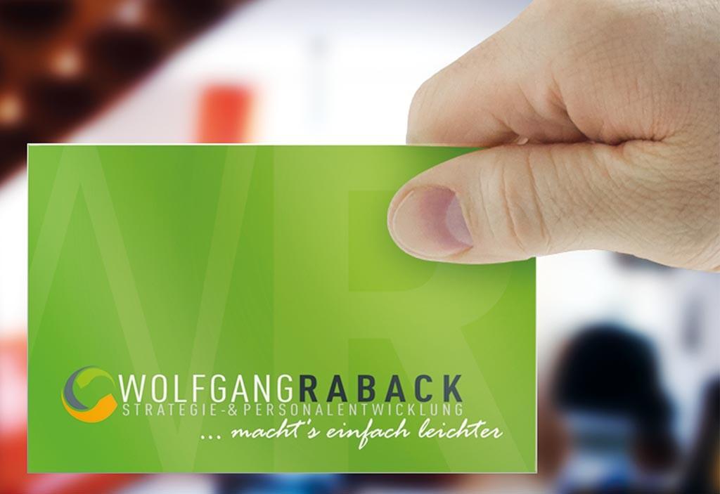 Visitenkarten für Wolfgang Raback