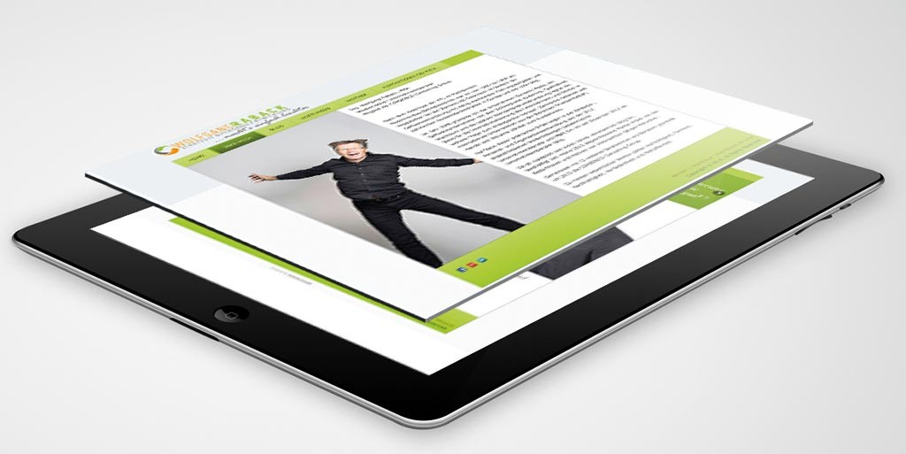 Webdesign für Wolfgang Raback