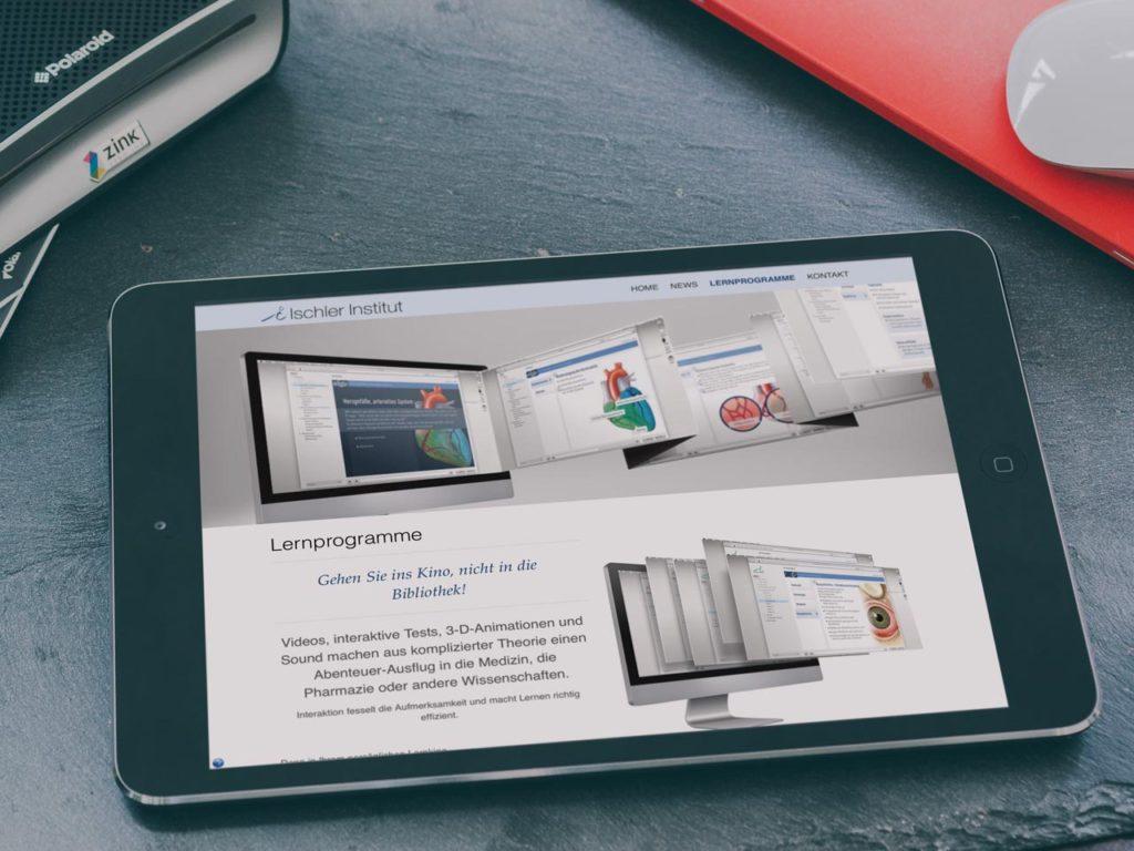 Webdesign für Ischler.com Multimediale Lernprogramme zur Physiologie des Menschen