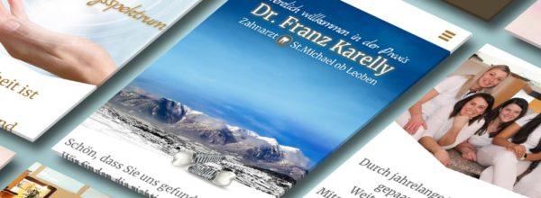 Website für Zahnarzt Dr. Franz Karelly