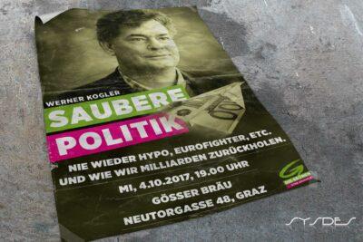 Plakat Saubere Politik