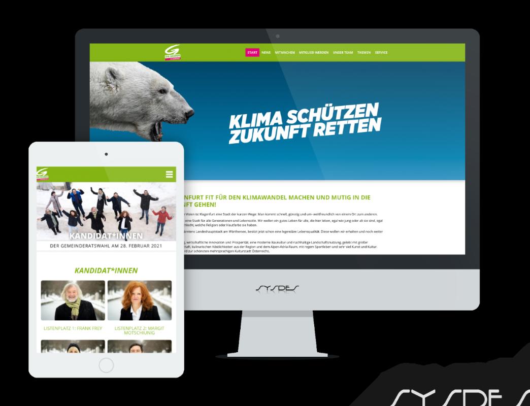 Webseite Grüne Klagenfurt