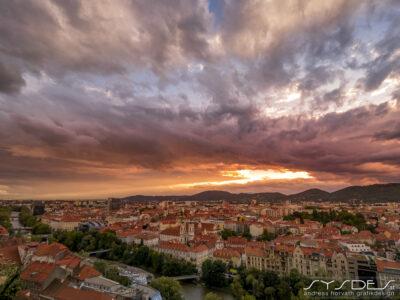 Sonnenuntergang Grazer Altstadt