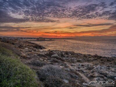 Zypern-Paphos-Sonnenuntergang