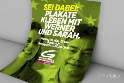 Inserat 10. Mai Plakate kleben