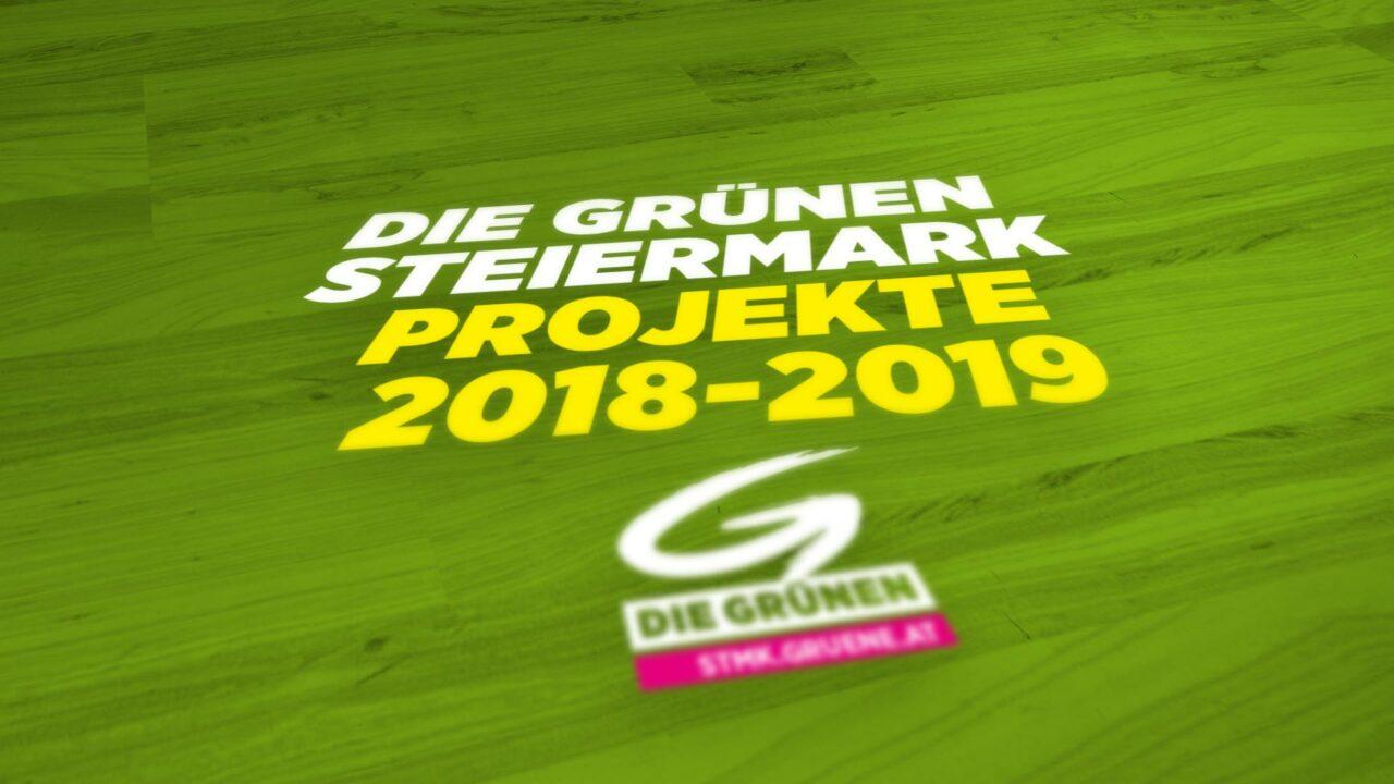 Die Grünen Steiermark – Projekte 2018-2019