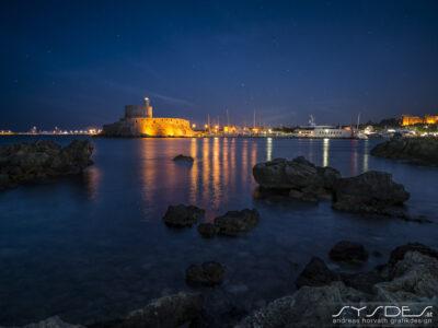 Saint Nicholas Fortress in der Nacht
