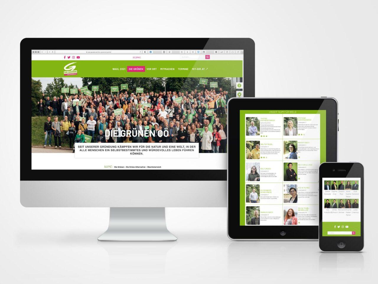 Webseite Grüne Oberösterreich