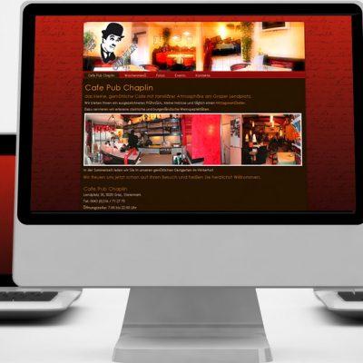 Website Cafe Pub Chaplin, Graz