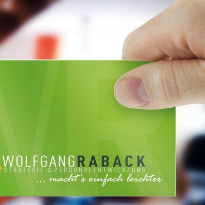 Visitenkartendesign für Wolfgang Raback