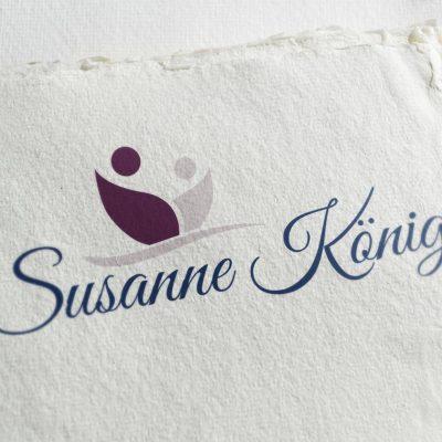 Neugestaltung des Logo für die Dipl. Lebens- und Sozialberaterin, Dipl. Kunsttherapeutin, Ernährungstrainerin, Energie-Therapeutin (MET nach Franke ®) Susanne König.