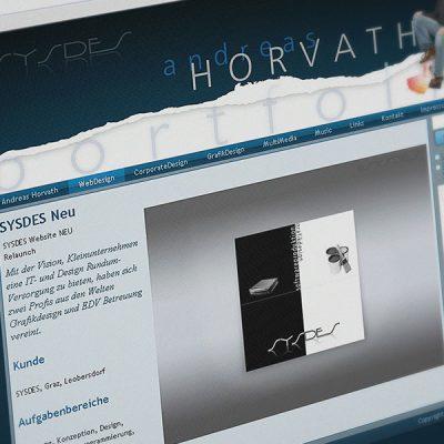 Webdesign Andreas Horvath Portfolio
